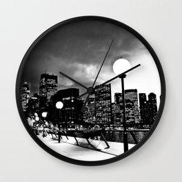 Mono-Chrome City Wall Clock