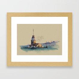 Istanbul Maiden Tower Framed Art Print