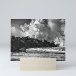 Donostia storm. Mini Art Print