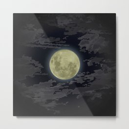 In Love With The Moon Metal Print