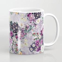Botanical Flowers Purple Coffee Mug