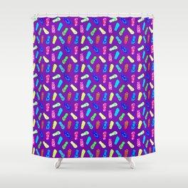 Flip Flops Pattern Purple Shower Curtain