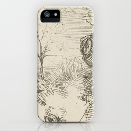 Half-length-of-a-man-in-a-landscape by George Manson iPhone Case
