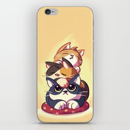 Cat Stack Doodle iPhone Skin