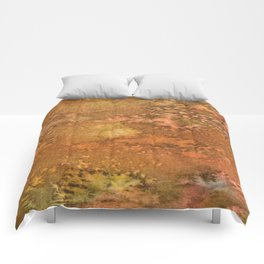 Warm Watercolor - Orange, Brown and Yellows Comforters