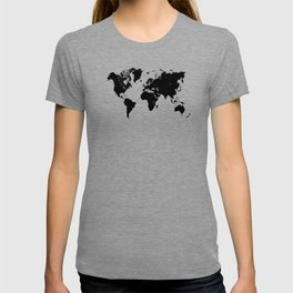 world map 94 black #worldmap #map #world T-shirt