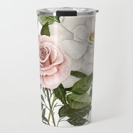 Pink Rose and Magnolia Travel Mug