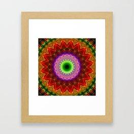 Mandala India  Framed Art Print