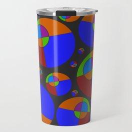 Bubble red & blue 09 Travel Mug