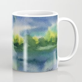 Dreamy Morn #watercolor #art #buyart Coffee Mug