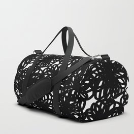 Bold Scribble Floral Duffle Bag