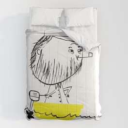 A man in a boat Comforters