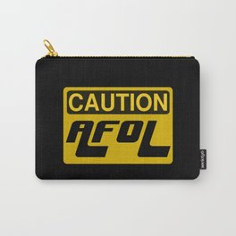 CAUTION AFOL ADULT FAN OF LEGO by Chillee Wilson [from Customize My Minifig] Carry-All Pouch
