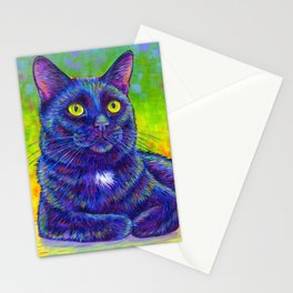 Little House Panther - Colorful Black Cat Stationery Cards