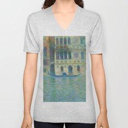 Venice, Palazzo Dario (1908) by Claude Monet Unisex V-Neck