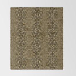 Matrix Recall - Abstract Gothic Vintage Throw Blanket