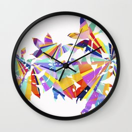 Italian Flower Wall Clock