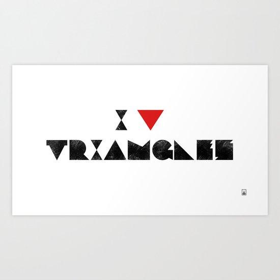 I V TRIANGLES Art Print