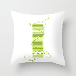 Barcode & Swirls Throw Pillow