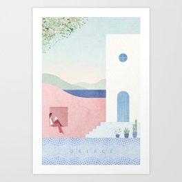 Santorini, Greece Art Print
