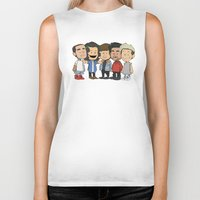 1d Biker Tanks featuring Schulz 1D by Ashley R. Guillory