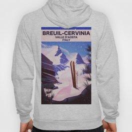 Breuil-Cervinia Valle d'Aosta Italy Ski poster. Hoody