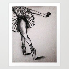 Ballerina - Charcoal  Sketch Art Print