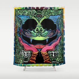 Climbing up the Walls Shower Curtain