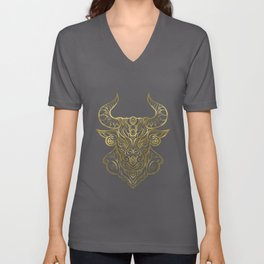 Taurus Gold Unisex V-Neck