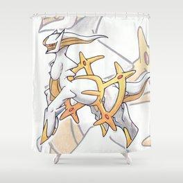 Arceus Shower Curtain