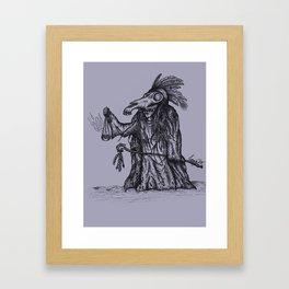 The Mari Lwyd Framed Art Print