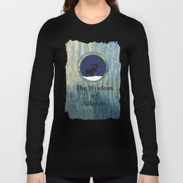 Wisdom of Silence Moose Spirit Art Long Sleeve T-shirt