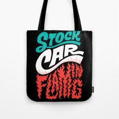 Stock Car Flaming Tote Bag