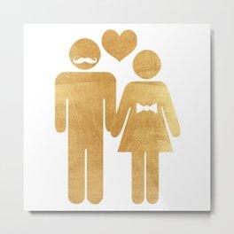The golden couple Metal Print