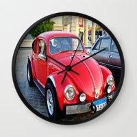 mini Wall Clocks featuring Mini by Magic Emilia