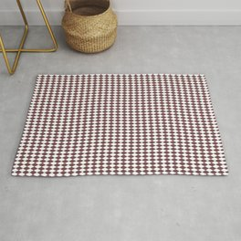 Pantone Red Pear Rippled Diamonds, Harlequin, Classic Rhombus Pattern Rug