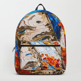 BIRCHES IN RED Backpack