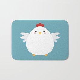 White Chicken Bath Mat
