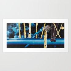 Landing in Tree Houses of Blue Dreams Art Print