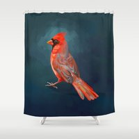cardinal Shower Curtains featuring Cardinal by Freeminds
