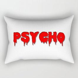 Psycho in red Rectangular Pillow