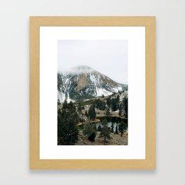 Foggy Yellowstone  Framed Art Print