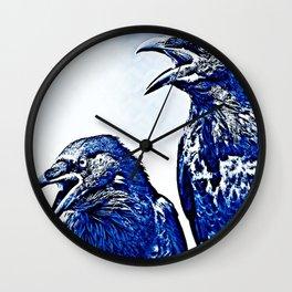 Corvus corax (crows) Wall Clock