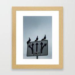 Ravens Going Strait Framed Art Print