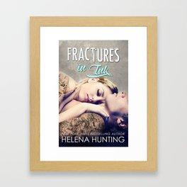 Fractures in Ink Framed Art Print