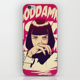Pulp Fiction Mia Wallace iPhone Skin