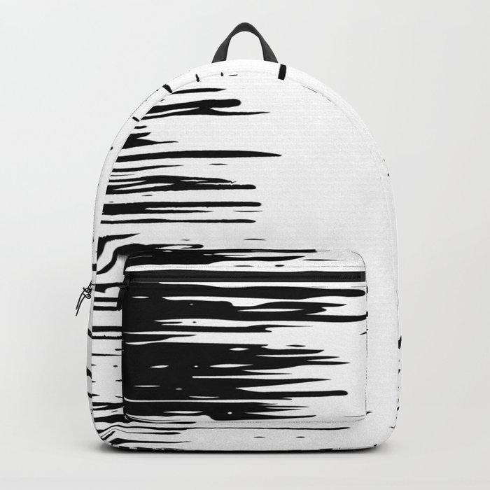 Splash Black and White Backpack