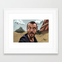 jesse pinkman Framed Art Prints featuring Jesse Pinkman by Michael O'Sullivan