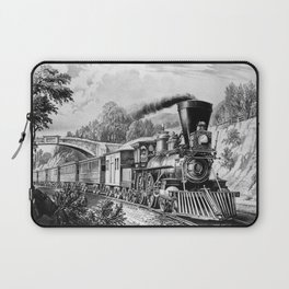 The Express Train: Currier & Ives 1870 Laptop Sleeve