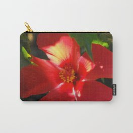 Red Hibiscus in Sunlight Carry-All Pouch